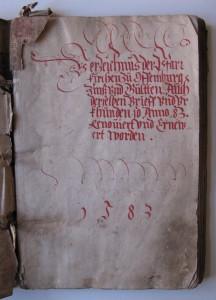 Kopialbuch von 1583