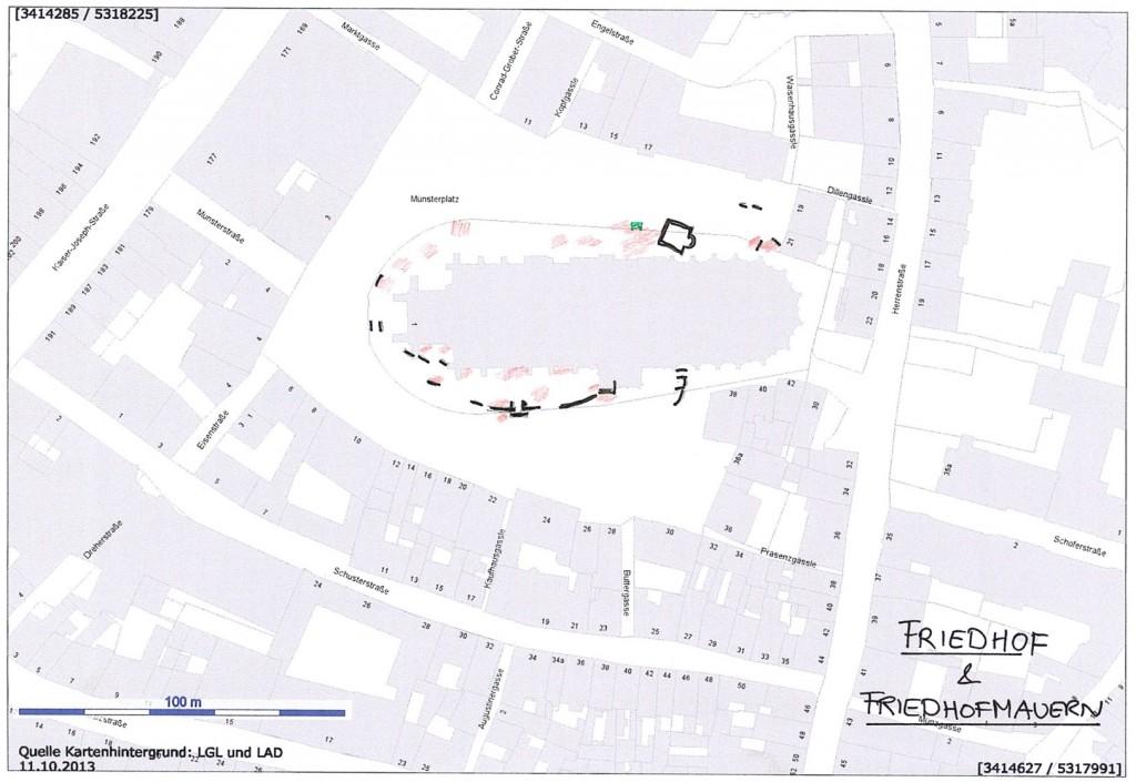 Abb. 6. Friedhof und Friedhofsmauern (Renn 2014)